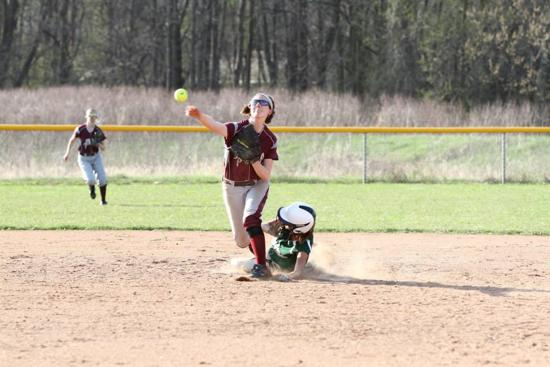 Falls Versus Hale Softball pivot