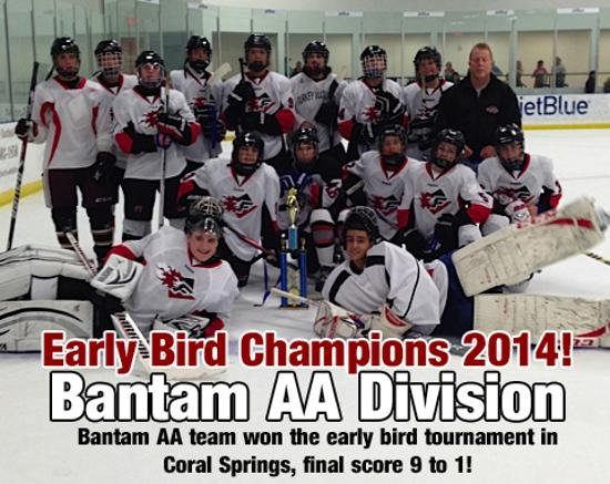 Bantam AA Early Bird Champs 2014