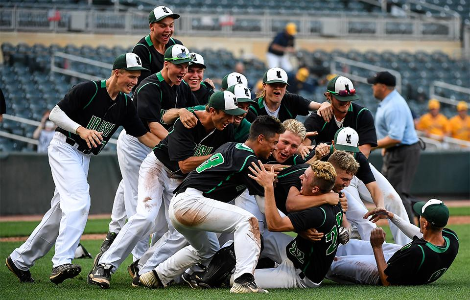 Maple Lake, which won the Class 2A crown a season ago, should be tested against Minnehaha Academy on Tuesday, as the Irish seek a fourth consecutive state tournament bid. Photo by Aaron Lavinsky, Star Tribune
