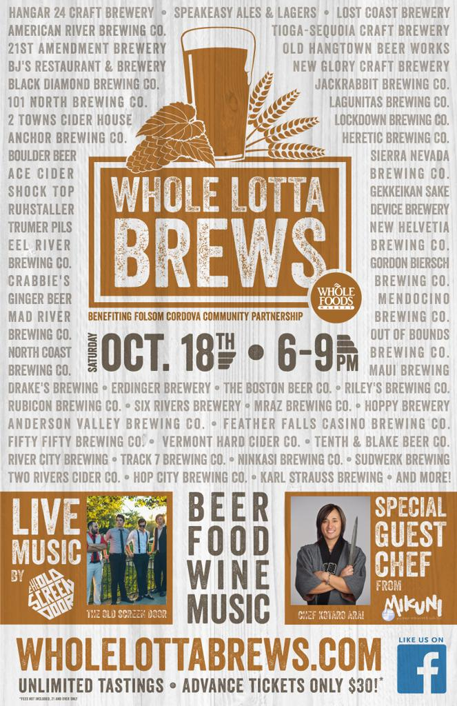 Whole Lotta Brews event flyer
