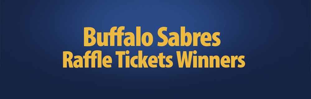 Announcing Sabres Raffle Ticket Winners at Bison Hockey