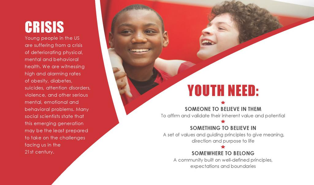 Youth are in Crisis - AAO mission's to transform lives through mentoring, joining with caring parents and community partners, and providing life giving cultures to build champions for life!