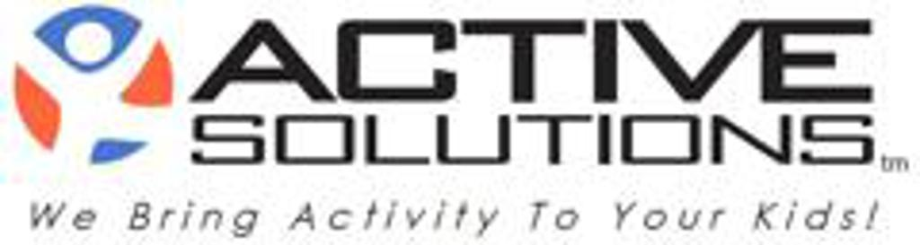 "Active solutions logo saying ""we bring activity to your kids"""