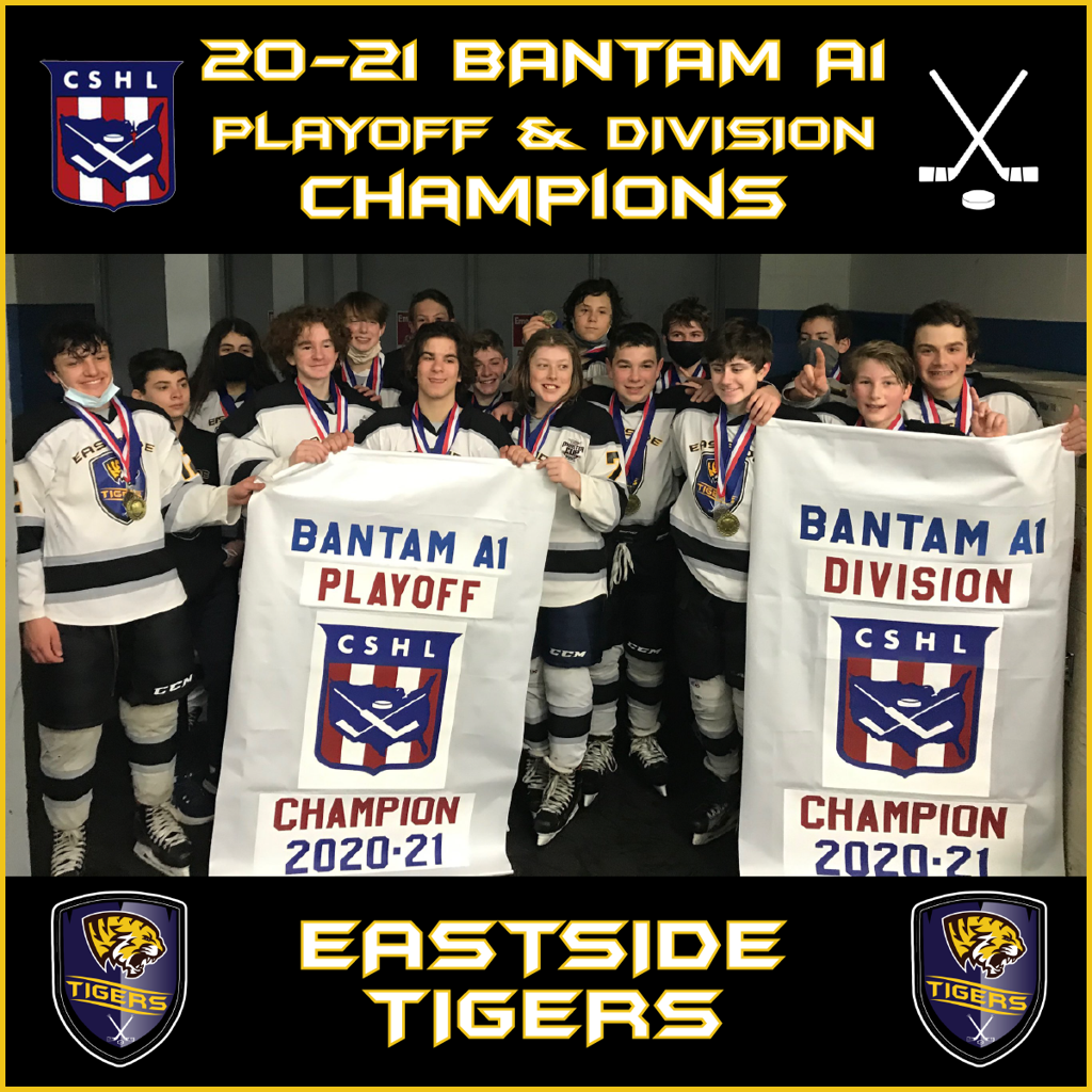 Congrats to the 14U Eastside Bantam A1 CSHL Playoff and Division Champions!