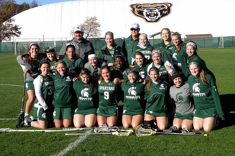 The Michigan State Women's Lacrosse team ended their season at Oakland University this past week. The Spartans open the 2015 WCLL season in Brighton, Michigan at The Legacy on Saturday, February 7, 2015.