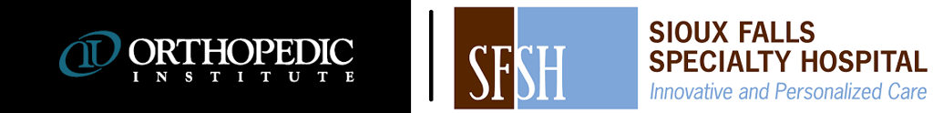 Orthopedic Institute and Sioux Falls Surgical Hospital logos