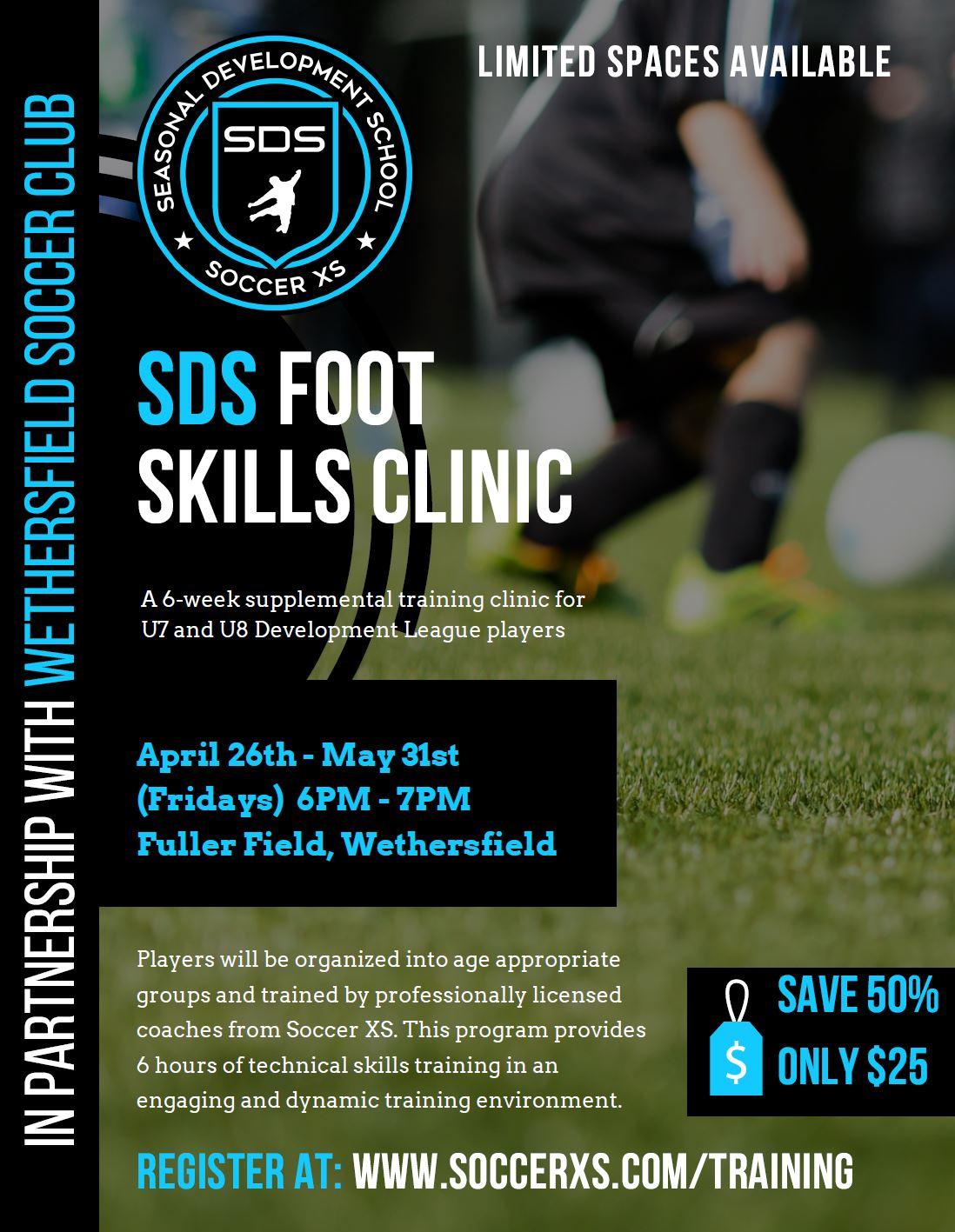 SDS Foot Skills Clinic (Wethersfield Soccer Club)