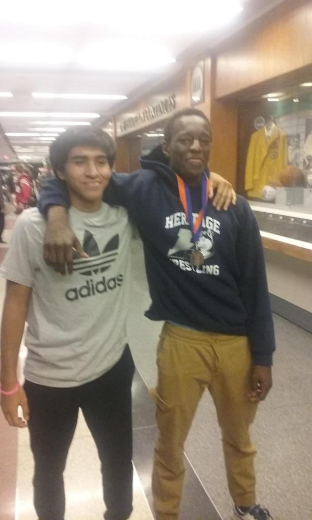 Congrates Anthony Brito and Sheriff Njie for being Heritage Wrestling first two State Qualifiers/State Placers (Anthony Brito 3 X SQ/SP 6th 126lbs, 5th 126lbs, 1st 132lbs / Sheriff Njie 1 X SQ/SP 152lbs 4th)