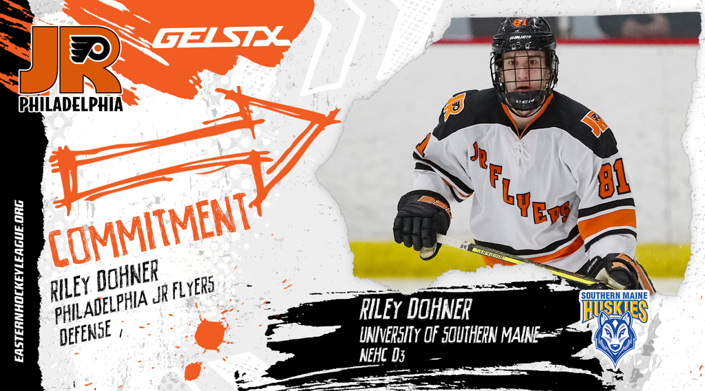 EHL Jr. Flyers Defenseman Dohner makes NCAA commitment to the University of Southern Maine
