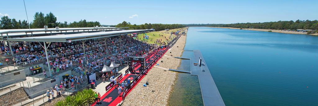 Spectators watching IRONMAN 70.3 Western Sydney