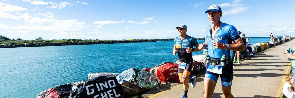 Runners participating in IRONMAN 70.3 Port Macquarie