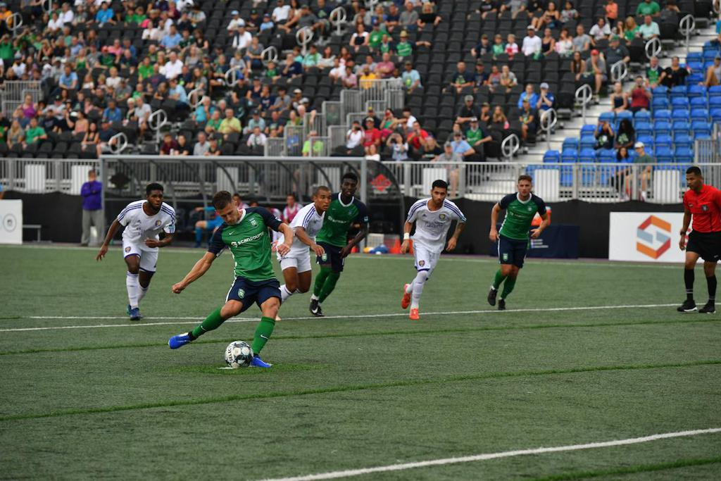 Keegan scored nine goals during his first year with the Greenville Triumph | Photo via Greenville Triumph SC