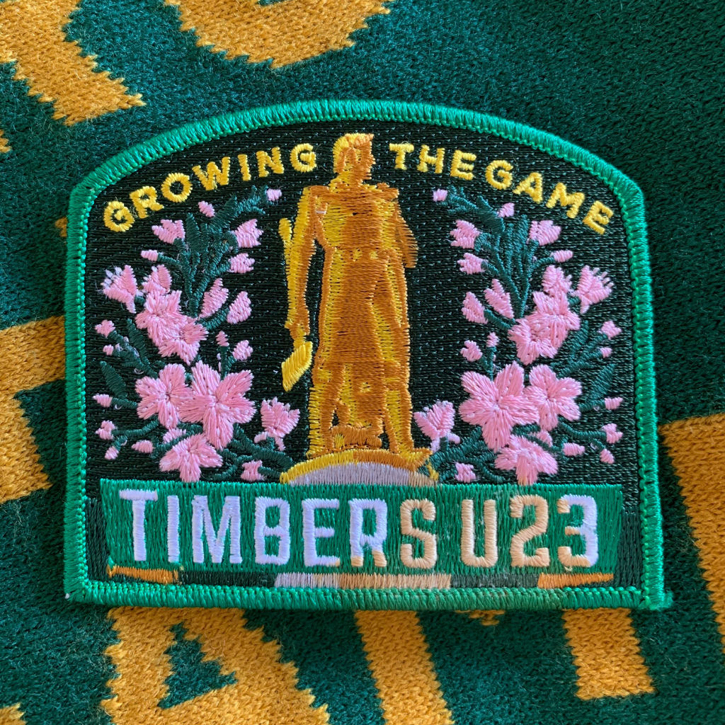 "This membership includes 25% off our team store, Timbers U23 stickers, and a ""Regrow Oregon"" patch (as shown)"