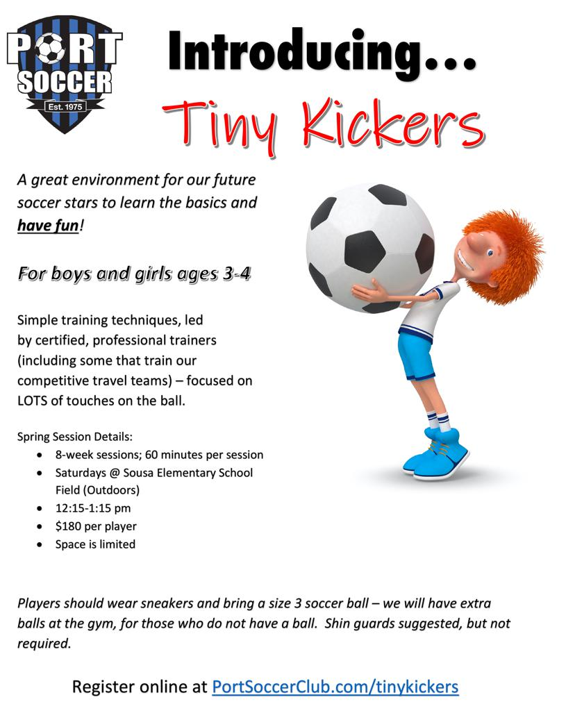 Tiny Kickers Continuing for Spring 2020