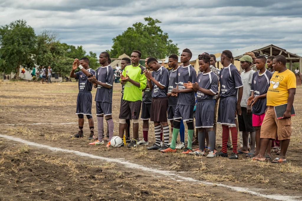Mavungwana FC Elephants Group Photo. 2019 Rhino Cup Champions League opening game.