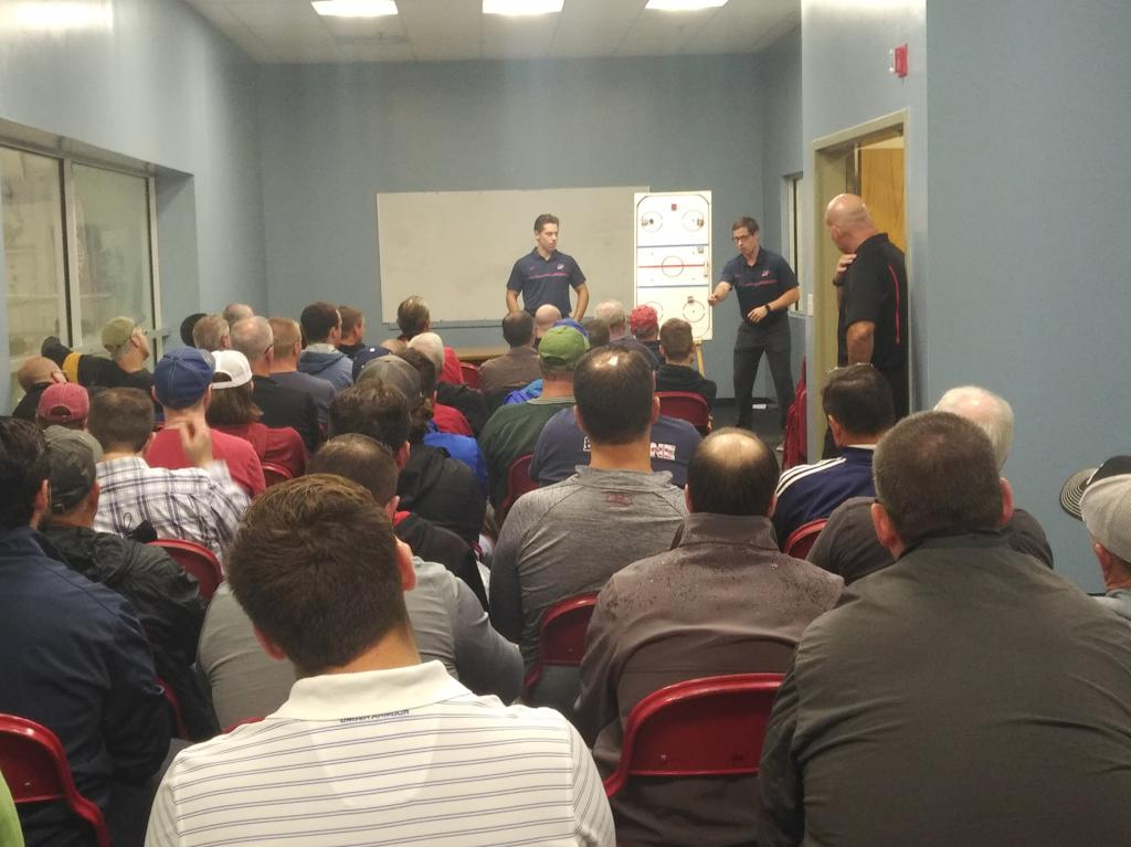 Trained USA Hockey Officiating Instructors will cover many topics in the classroom (Positioning, Playing Rules, etc.)
