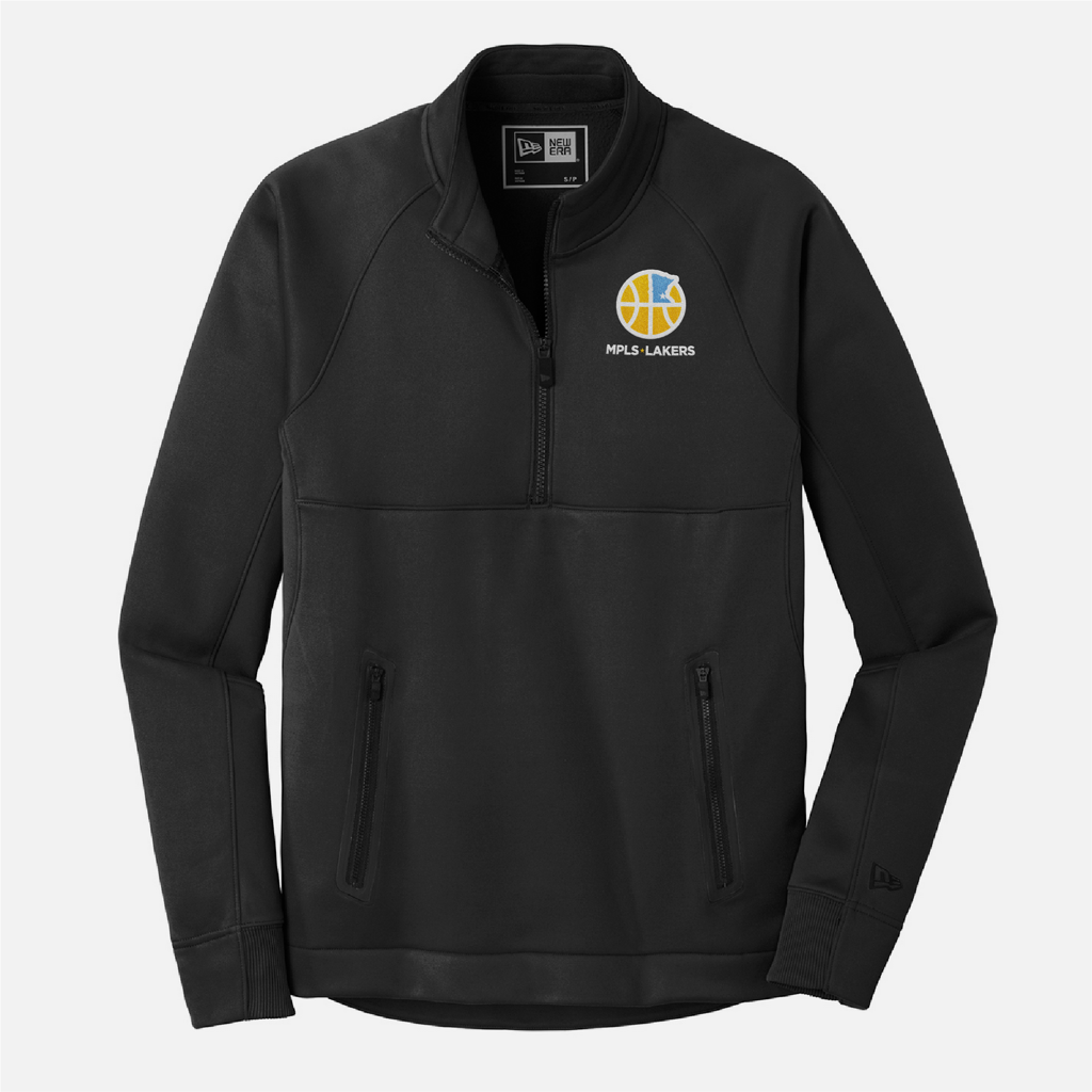 Official Mpls Lakers Youth Traveling Basketball Program Inc apparel and gear in Minneapolis, MN: Men's Black 1/4 Zip Pullover with embroidered logo and text