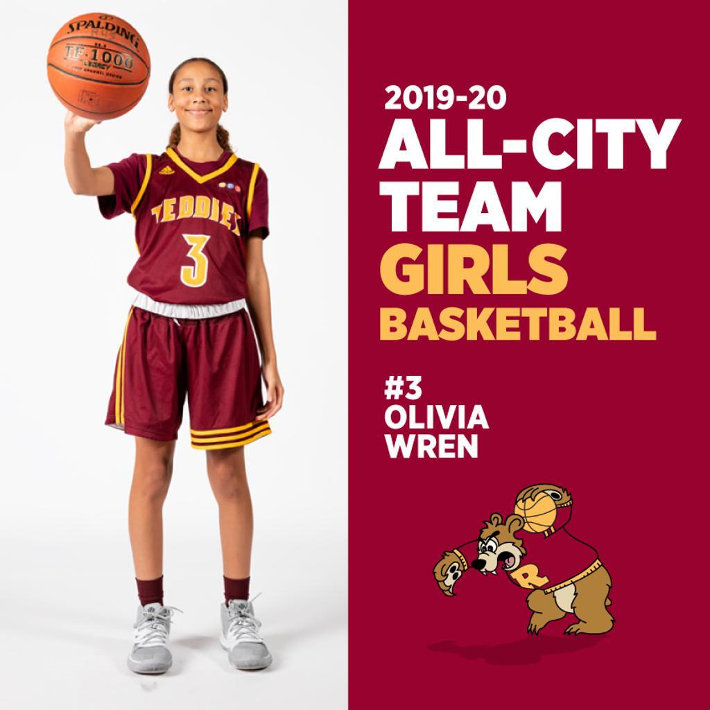 Olivia Wren, Minneapolis Roosevelt Girls Basketball, All-City Team