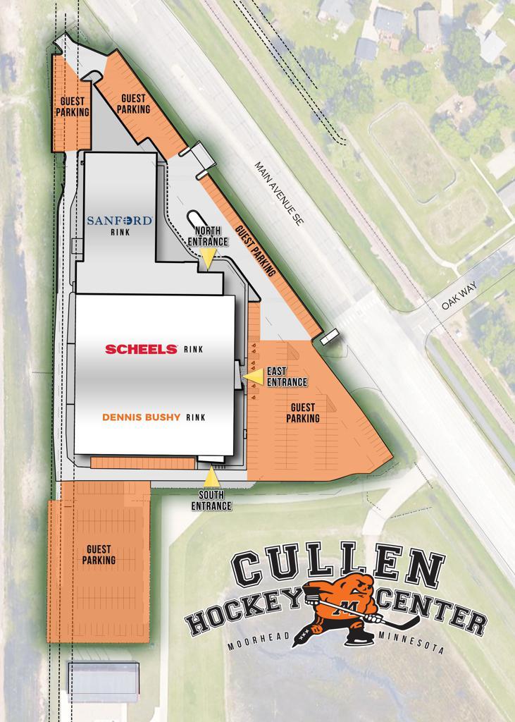 Cullen Hockey Center Parking Map