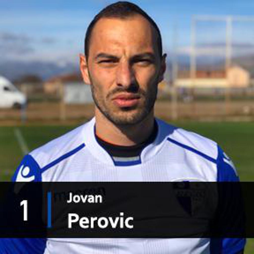 Jovan Perovic goalkeeper for FK Decic Tuzi 1926