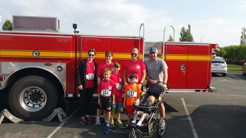 JJ Trained Wrestlers support Eden Prairie Fire Dept 5K Fundraiser