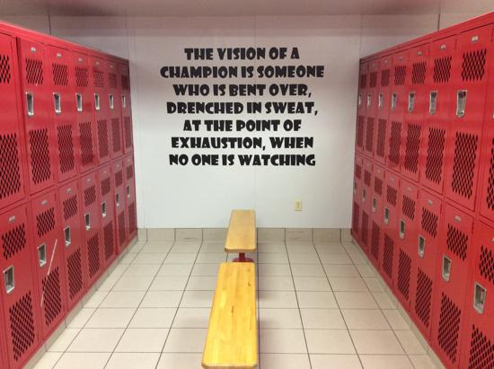 ... High School Football Locker Room Decorations Home Decor 2017 ...