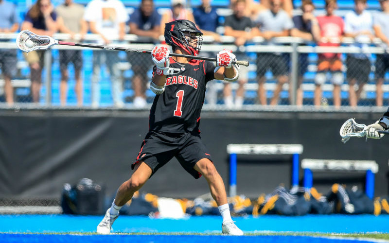 Quentin Matsui, a senior defender from Eden Prairie, was selected 2019 Mr. Lacrosse by the Minnesota Minute Men. Photo by Mark Hvidsten, SportsEngine