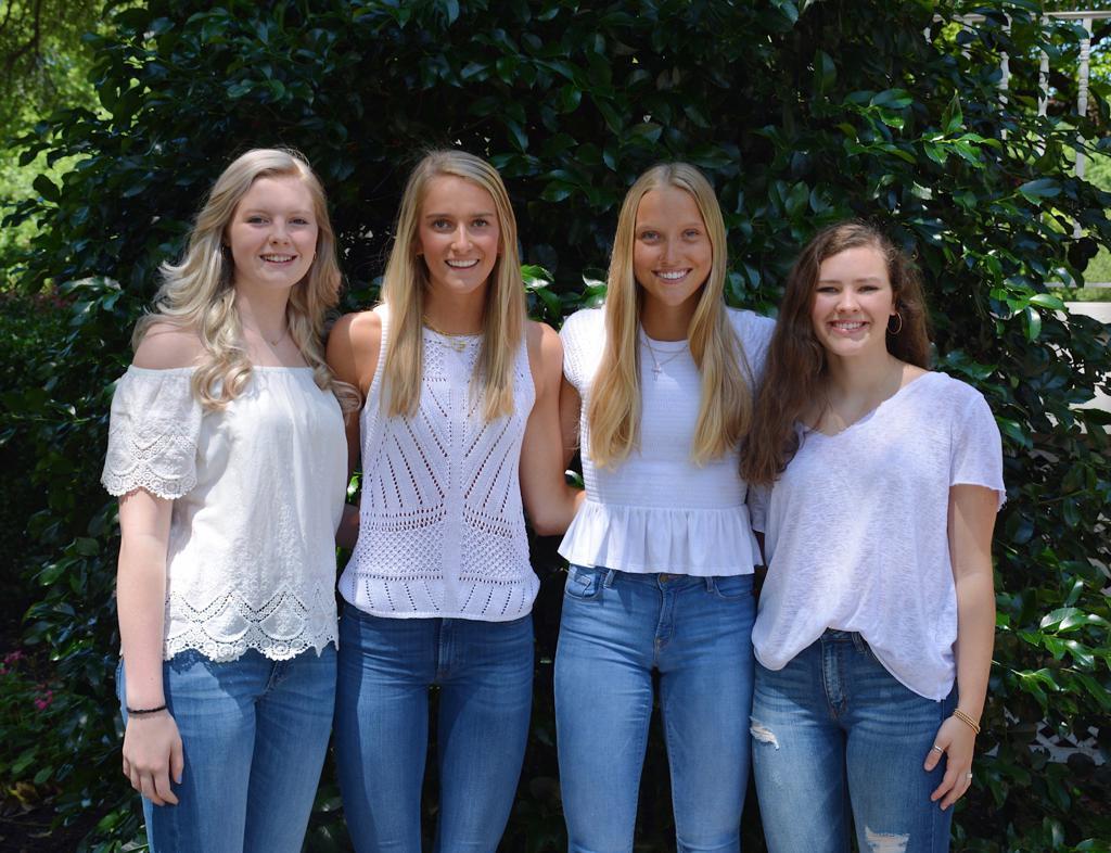"2020 HPVB Captains: Charlotte Lassarat, Anna Claire (""AC"") Nichols, Kennedy Westendorff, Carter Ching"