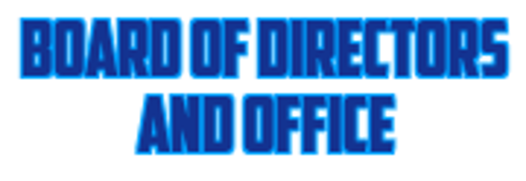 Board of Directors and office banner