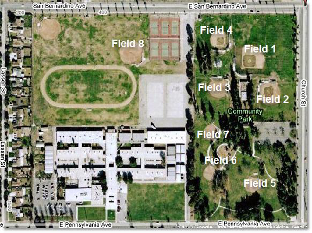 Colton High School Campus Map.Field Locations