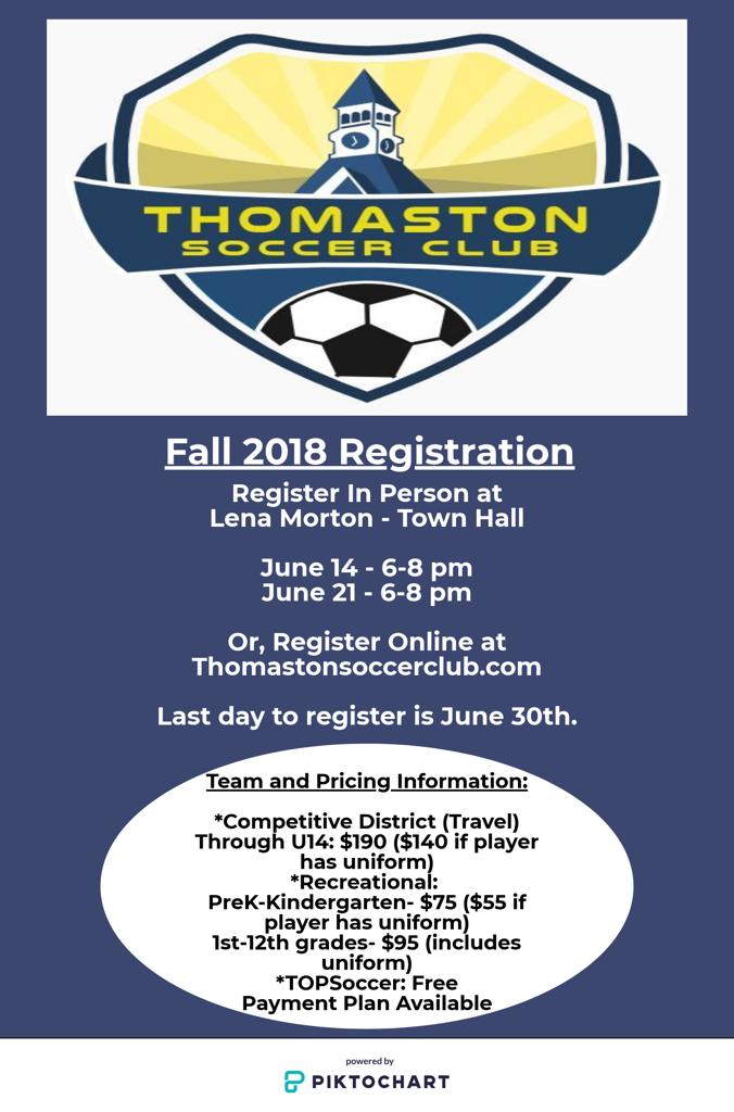 Fall Registration Details