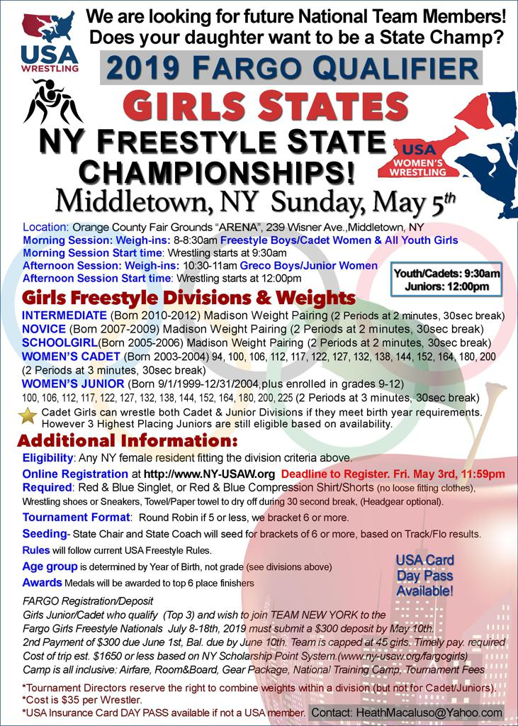 NY Womens wrestling, freestyle, new york