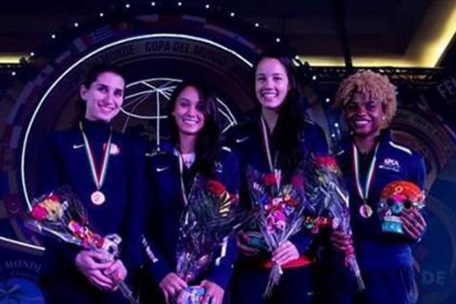 U S Women S Foil Team Wins Bronze In Cancun Prescod