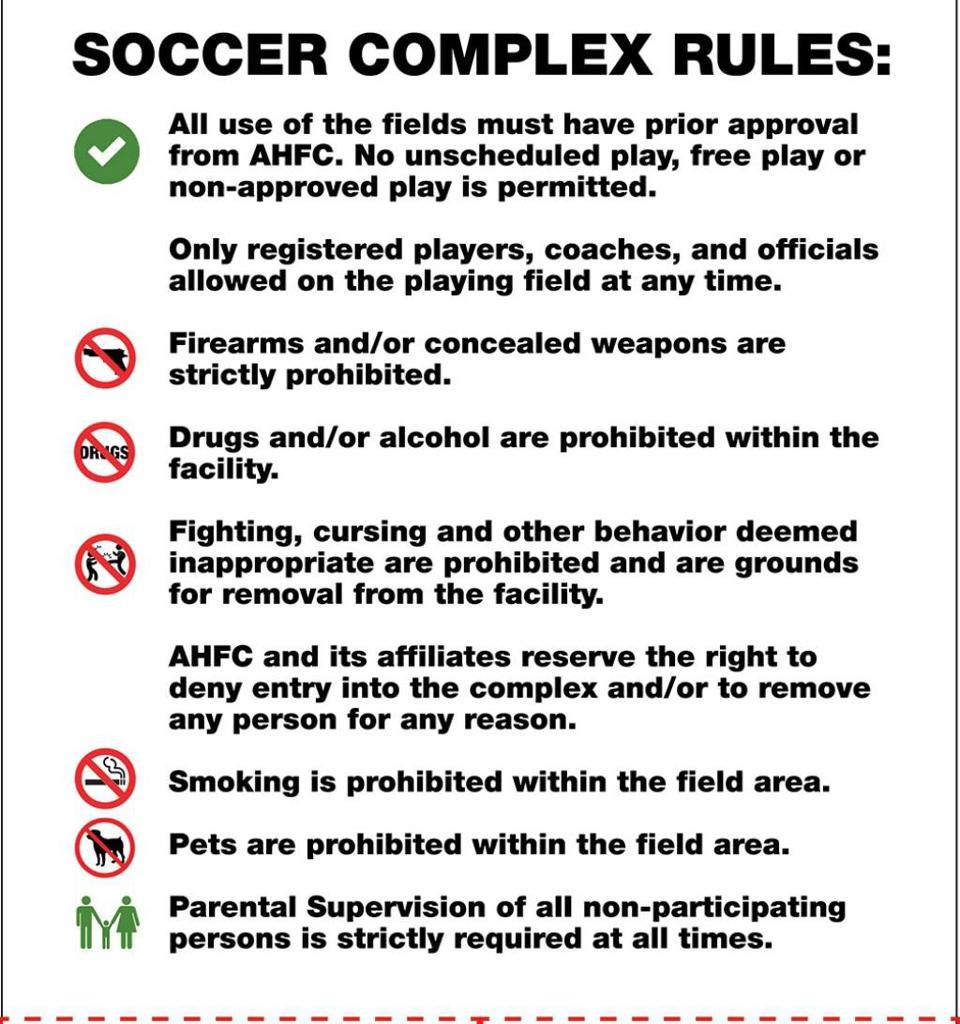 CRSP Park Rules