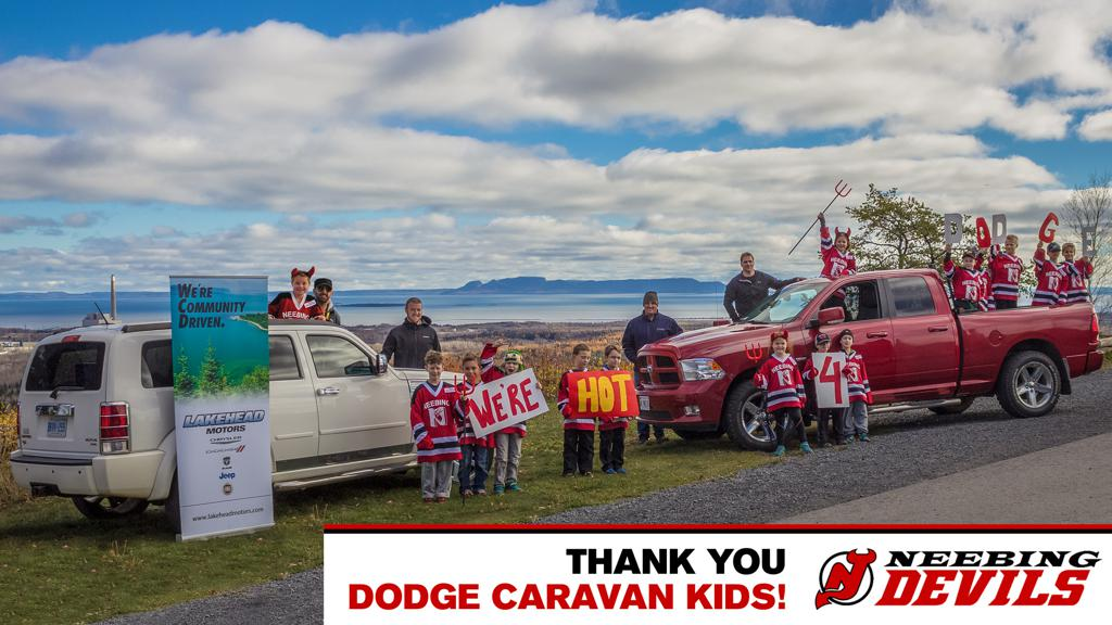 Neebing Devils Dodge Caravan Kids