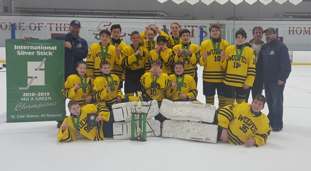Ann Arbor 05 Wolves win Silver Stick Regional Dec. 2