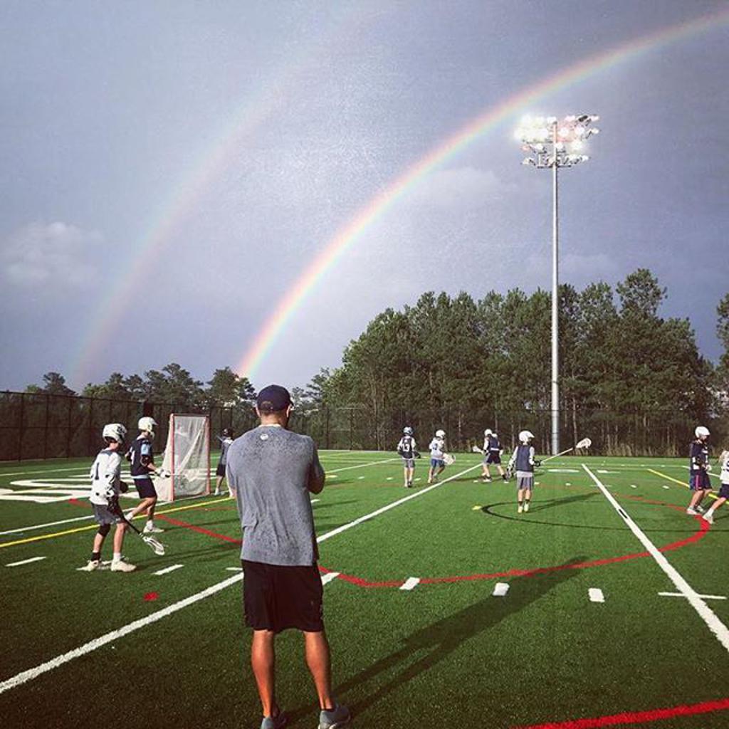 double rainbow at practice