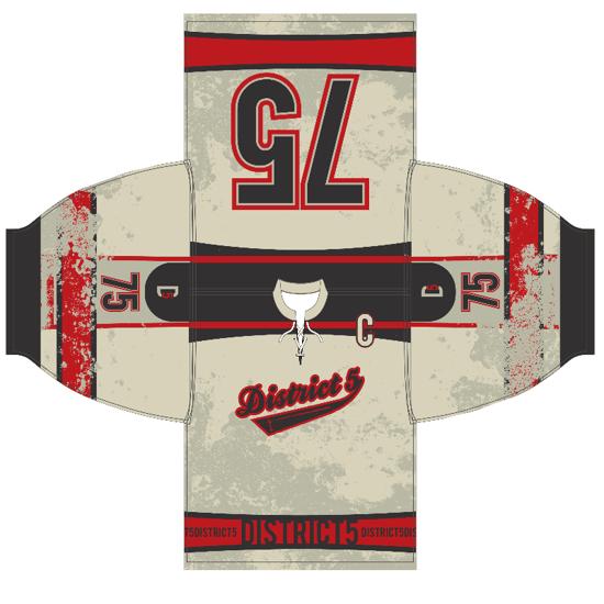 Mississauga Hockey Jersey Design by Kevin J. Johnston