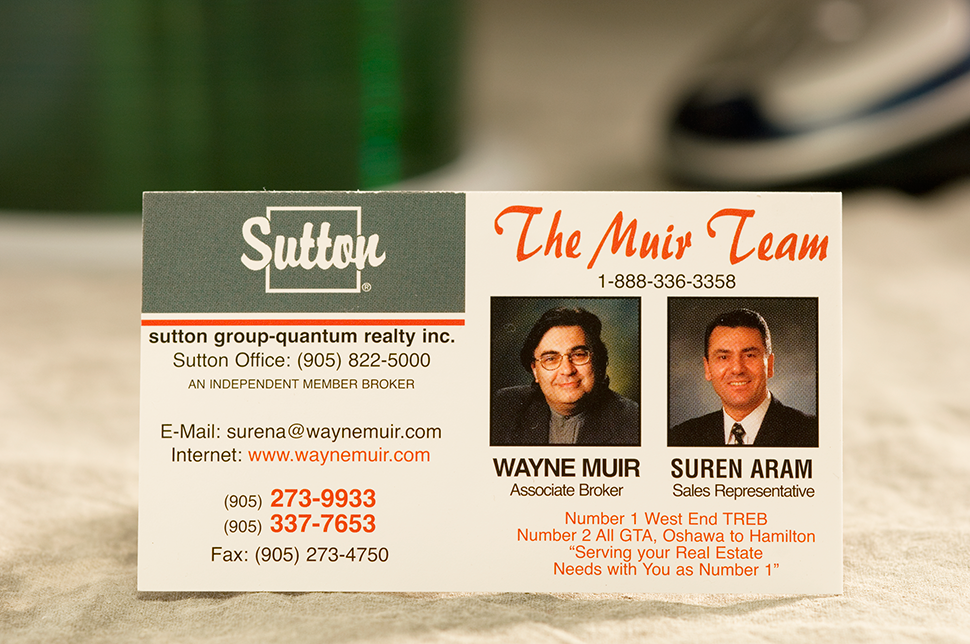 Mississauga Business Card Design by Kevin J. Johnston - Sutton Muir Team
