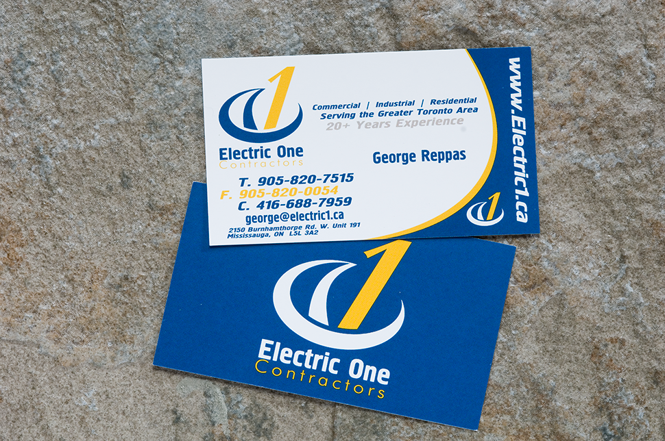 Mississauga Business Card Design by Kevin J. Johnston - Electric 1