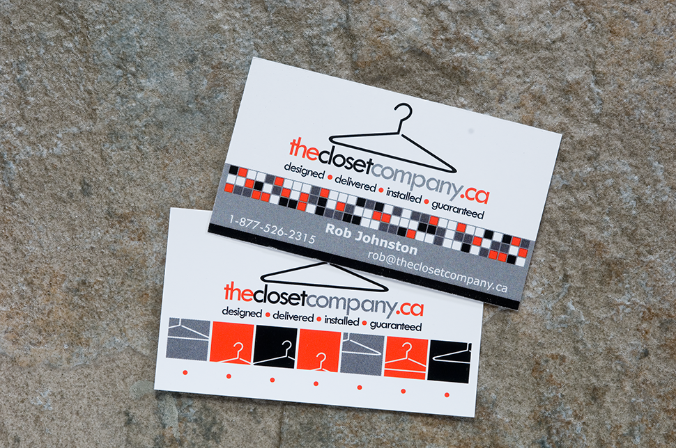 Mississauga Business Card Design by Kevin J. Johnston - The Closet Company