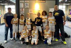 4th grade winners at The Cage and Runners Up at the tournament