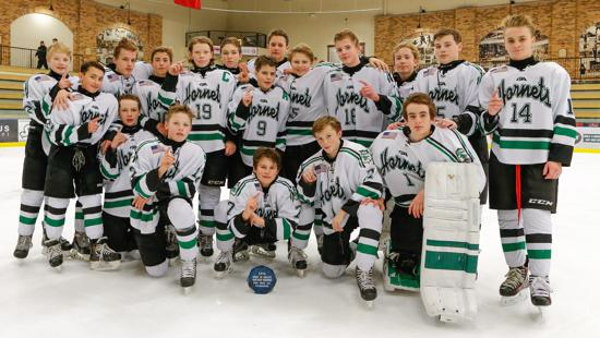 Edina won five straight games to take the Peewee AA title at the Spirit of Duluth tourney. Credit: Peter Odney.