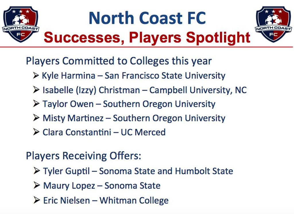 North Coast College Signings!
