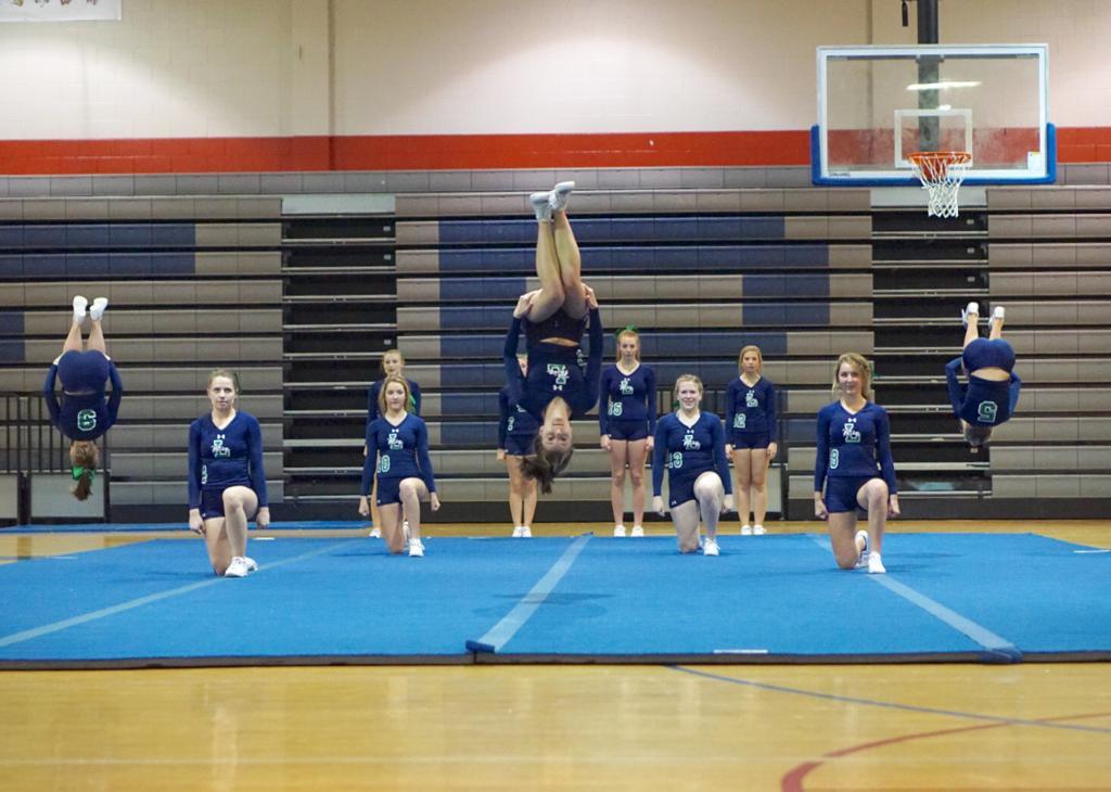 leesville road women's stunt action photo