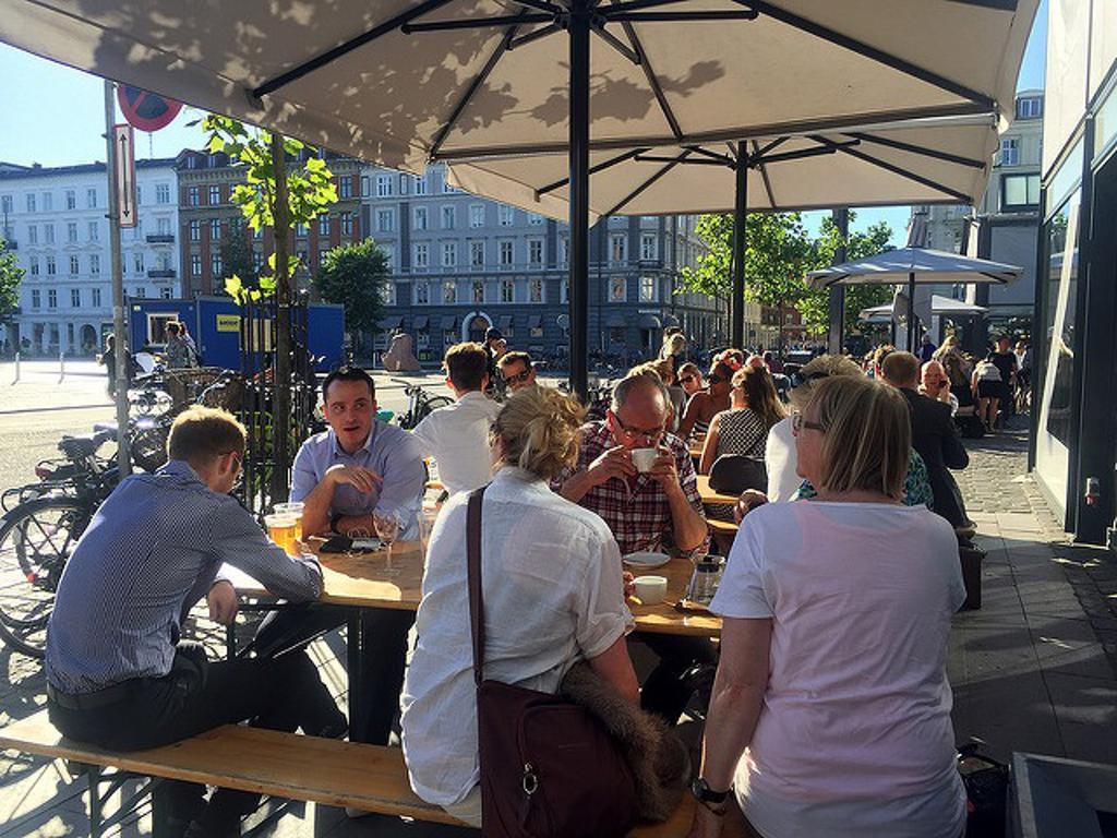 Eating outdoors in Copenhagen