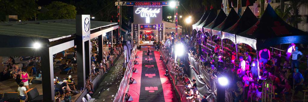 Swimmers push off at IRONMAN Cozumel