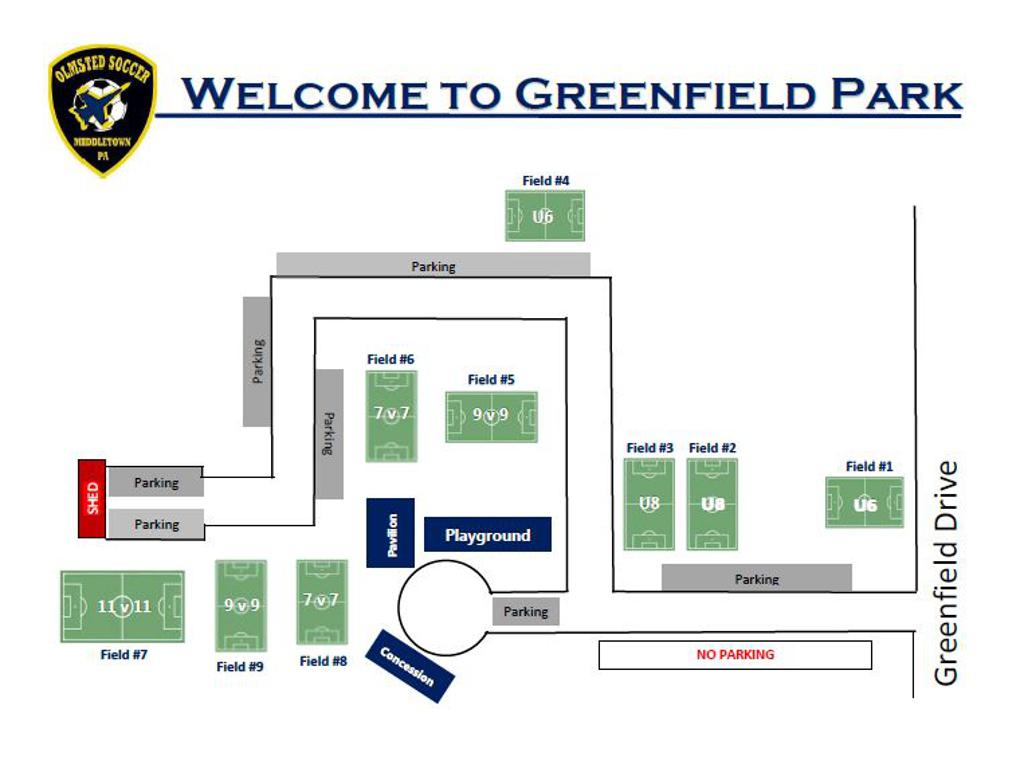 Fall 2019 Olmsted Field Map