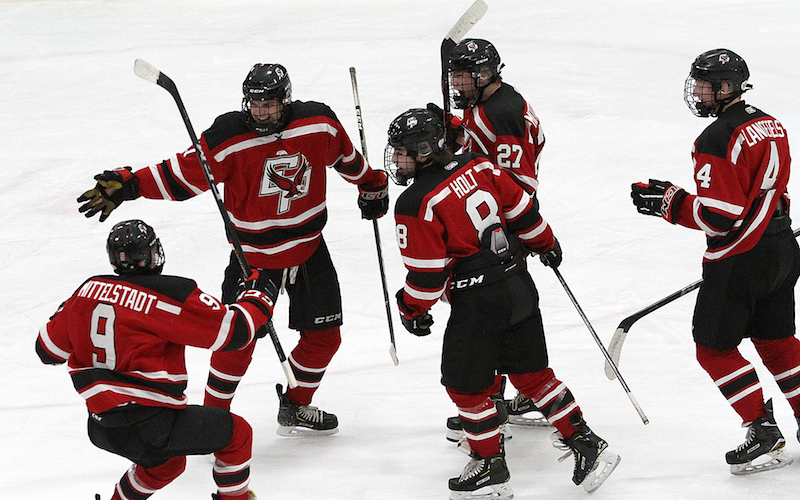Eden Prairie, the top-ranked team in the Class 2A coaches' poll from Nov. 27, returns several top players from last year's state tournament runner-up squad. The Eagles face No. 2-1A Hermantown on Saturday. Photo by Drew Herron, SportsEngine
