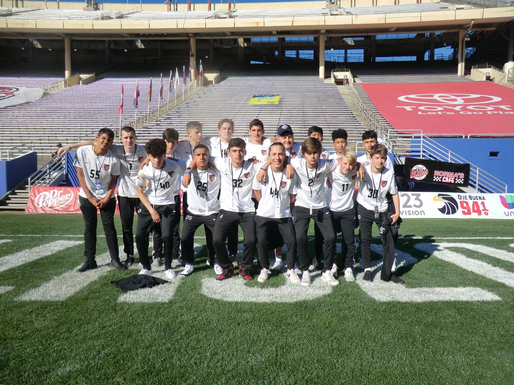 At the Cotton Bowl for Opening Ceremonies at the Dallas Cup